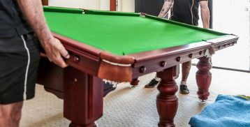 Taking Apart a Pool Table for Relocation